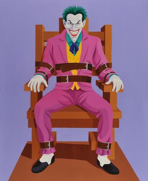 Giuseppe Veneziano, Eletric Joker, acrilico su tela, 170x130 cm., 2011. Courtesy Galleria Contini