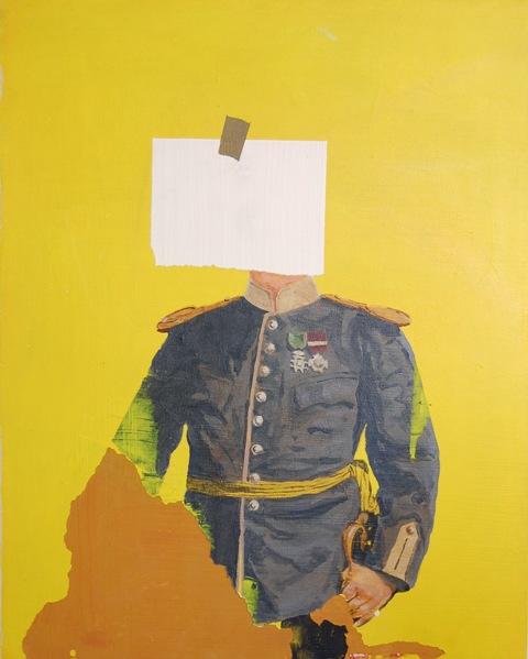 Paolo De Biasi, Ephemeral Painting 5, acrilico su tela, 50x40 cm., 2012