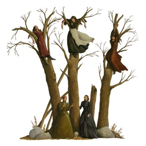 Vanni Cuoghi, Si stà come d'autunno sugli alberi le foglie, acrilico su tela, 120x120cm., 2010. Courtesy AreaB Gallery, Milano.