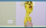 Carlo ALberto Rastelli, But all young lovers they look the__ same (2012), olio, acrilico, foglia oro e inserto in carta su tela, 60x100 cm-1
