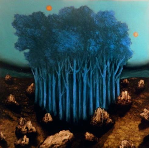 Giuliano Sale 2013 100x100 olio su tela -raining stones-