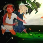 Senza titolo, tecnica mista su tela, 100x100cm, 2012