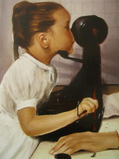 Valerio Melchiotti,The meat grinder-olio su tela-50x60-2012