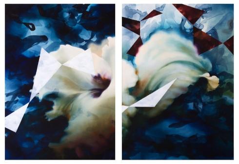 Lucere, acrilico ed olio su tela, 2 x cm 140x100, 2013