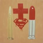 crusade 2005.acrylic&collage on canvas.180x180cm