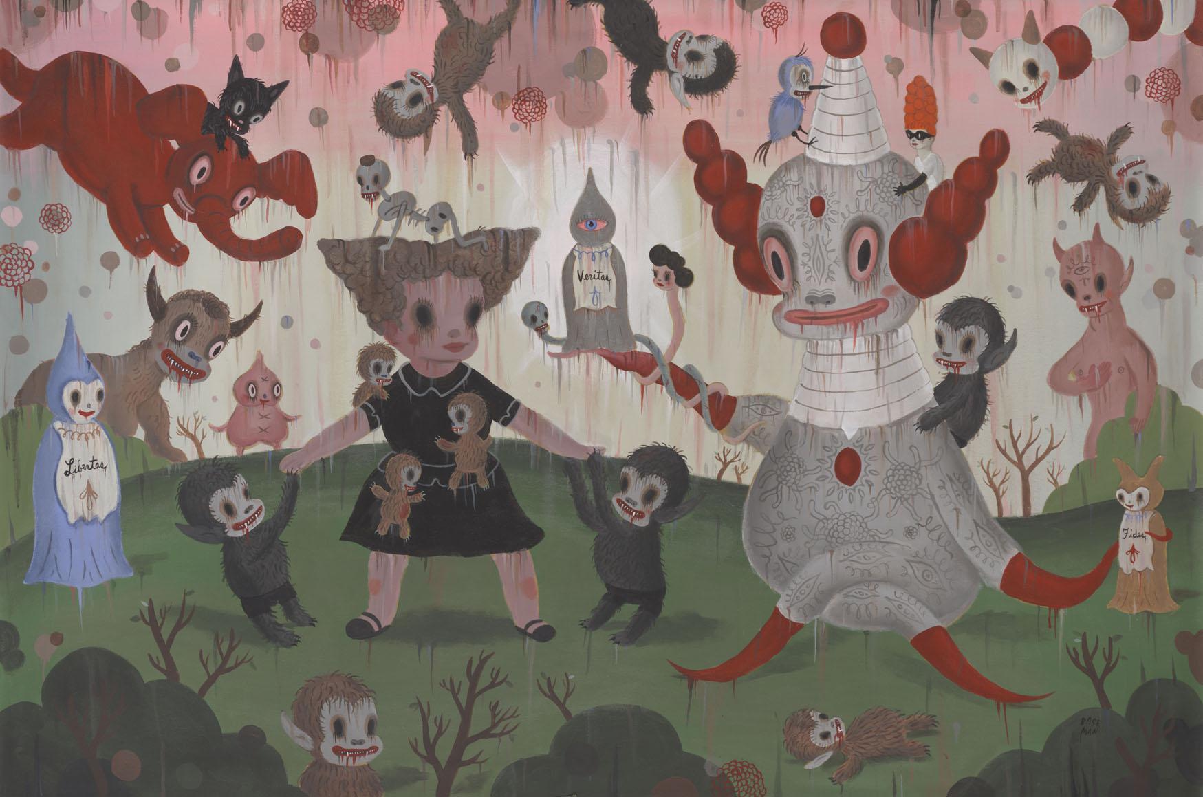 G.Baseman-2012-Birth-of-the-Domesticated-acrilico-su-tela-122-x-183-cm