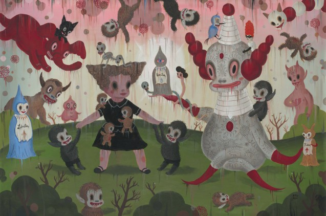 G.Baseman-2012-Birth-of-the-Domesticated-acrilico-su-tela-122-x-183-cm