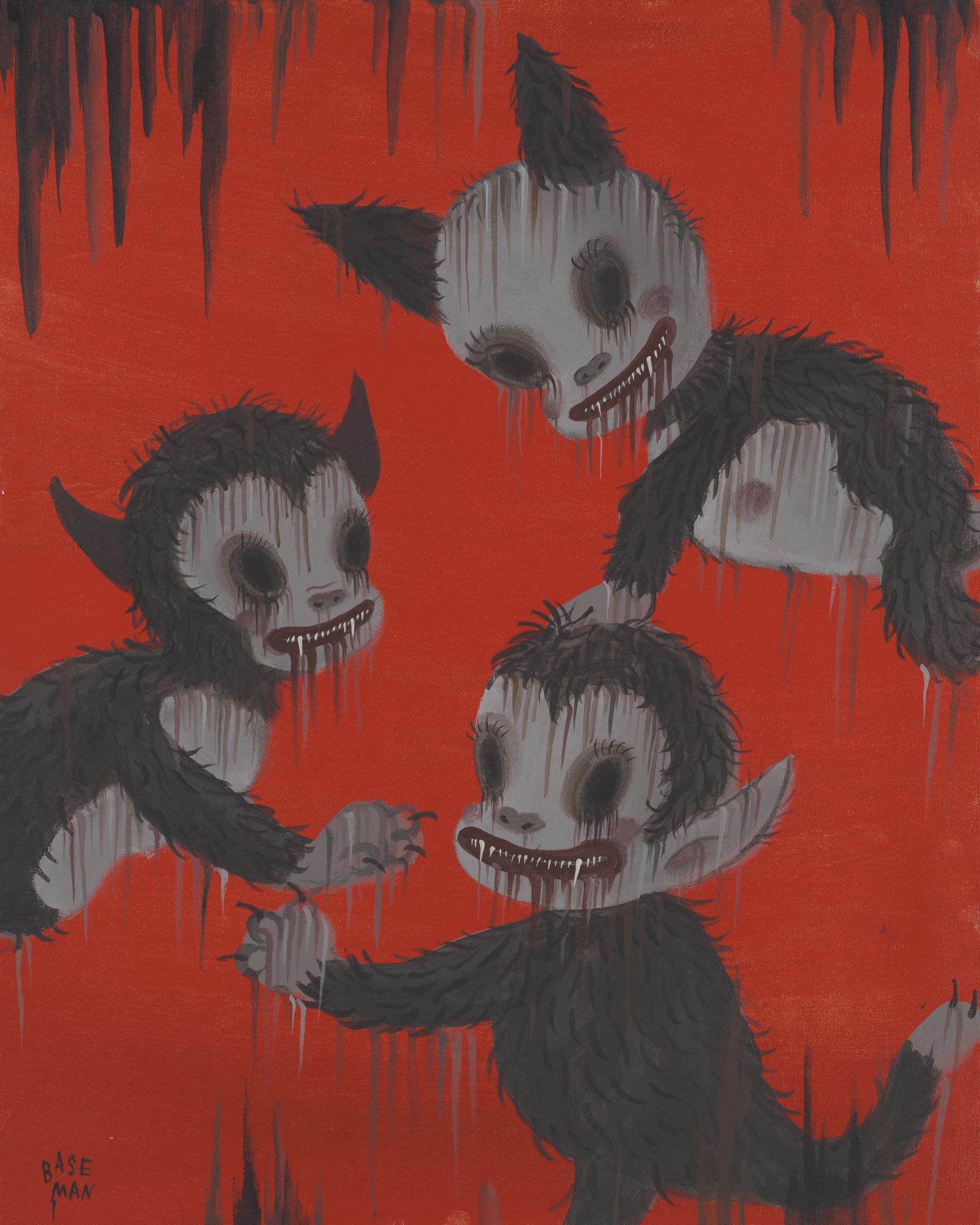 G.Baseman-2012-Delirium-Red-acrilico-su-tela-51-x-41-cm