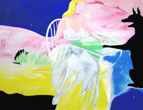Playground love (il lupo) 150x200tecnica mista su tela 2010
