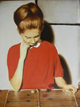 Valerio Melchiotti, Useless game-olio su tela-40x50-2012