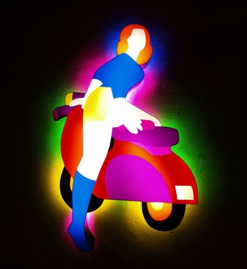 Marco Lodola, artista luciferino.