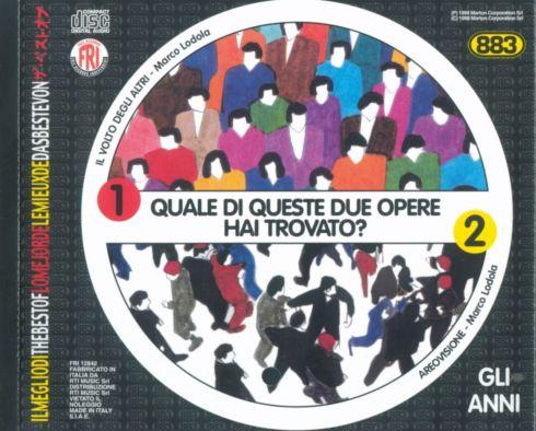 883 - Gli Anni  Cover di Marco Lodola