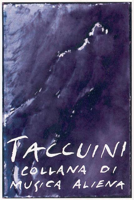 """Andrea Chiesi - Artwork per """"Taccuini"""", collana di musica aliena"""