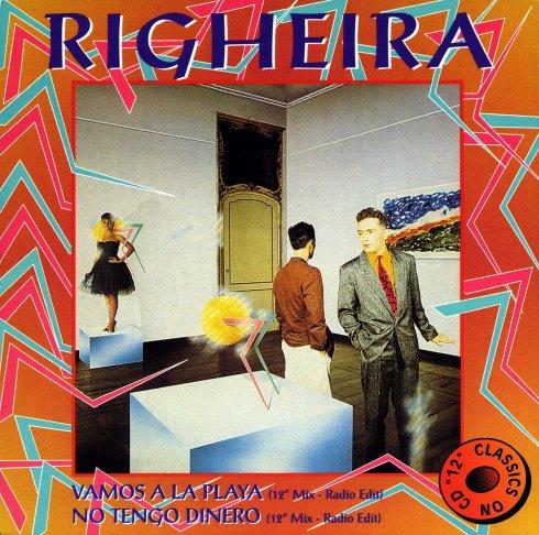 Righeira - Vamos a la playa Sul fondo un dipinto di Mario Schifano