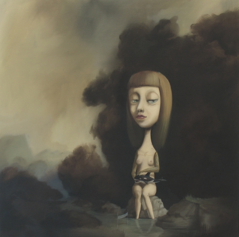 Paola Sala, Senza titolo, olio su tela, 90x90 cm, 2007