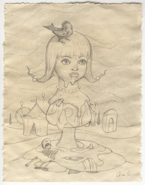 Ana Bagayan, Senza titolo, matita su carta melting, 20x15 cm.