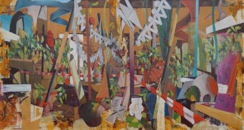 D'istanti distanti, 2012, olio su tavola, 70x130 cm