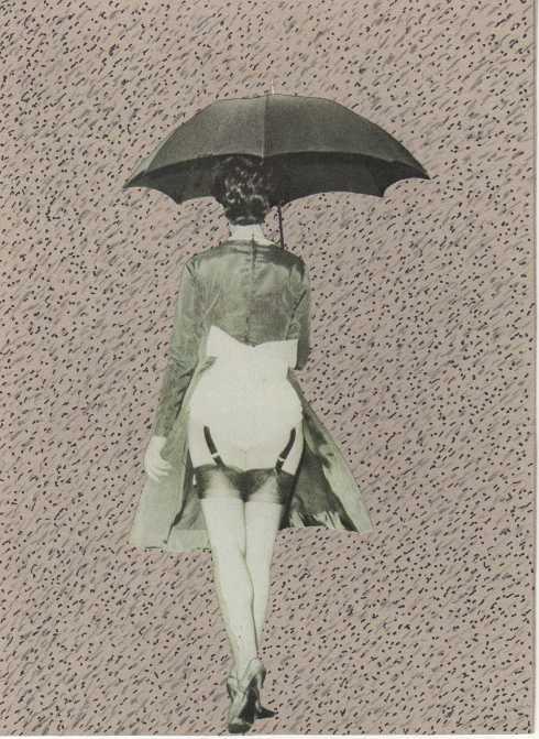 Enzo Forese, Senza titolo 3, matita e collage, 15,5x21 cm., 2009