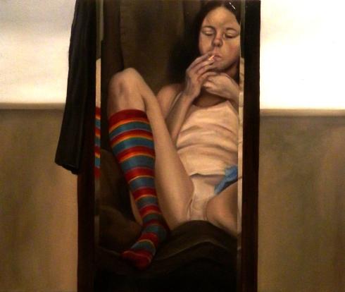 Giuliano Sale 2013 50x60volio su tela -LA NOIA-