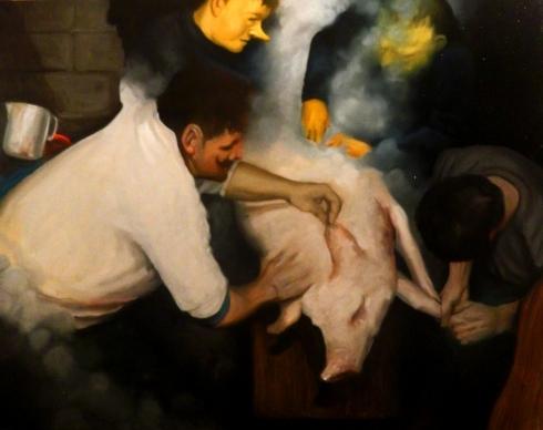 Giuliano Sale 80x100 2013 olio su tela -Deposizione-