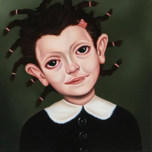 Giuliano Sale, Senza titolo, olio su tela, 30X30 cm., 2008