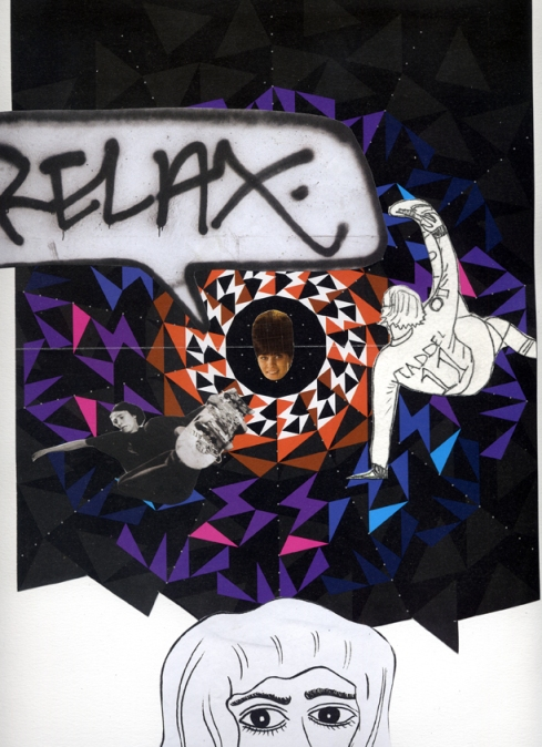 Just relax. collage su carta.33x24 cm.2010