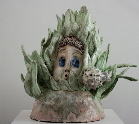 Sarah Geraci, Pemba, terracotta policroma, 53X45X40 cm., 2008