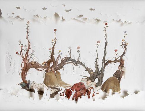 Vanni Cuoghi, Sei pensieri di primavera, 2011, acquerello su carta, cm 74x96