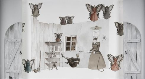 vanni_cuoghi-la-disinfestazione-dai-buoni-propositi-acquerello-e-collage-su-carta-52x95cm-2011