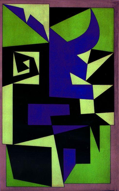 Ironta, olio su tela, 81x50 cm, 1950.