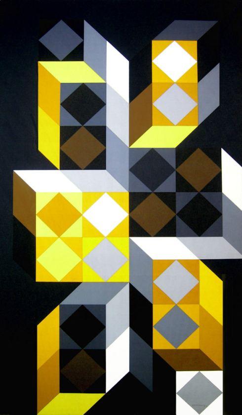 Tridim-N, acrilico su tela 194x113 cm, 1968.