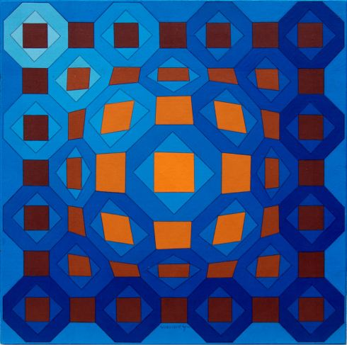 NIL-C, acrilico su tavola, 38x38 cm, 1974.