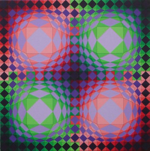 Papluk, olio su tela 70x70 cm, 1990.