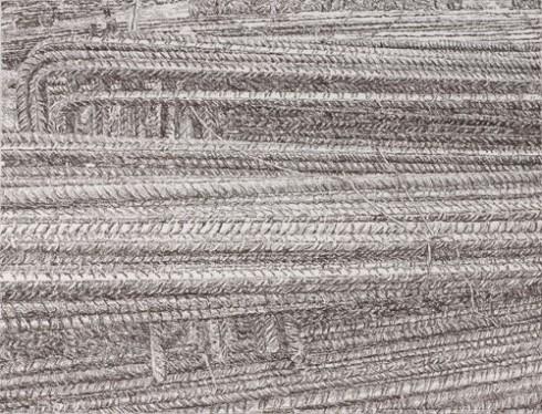 Senza titolo, 2005 Carboncino su carta, 60 x 80 cm