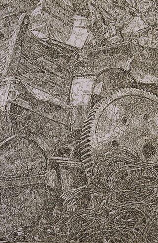 Senza titolo, 2006 pastello su carta Arches, 120 x 80 cm