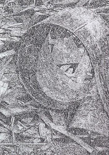 Senza titolo, 2007 pastello su carta Arches, 120 x 80 cm