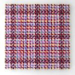 Mimmo Iacopino, Visione pittorica, strisce di velluto e raso su tela, 2011