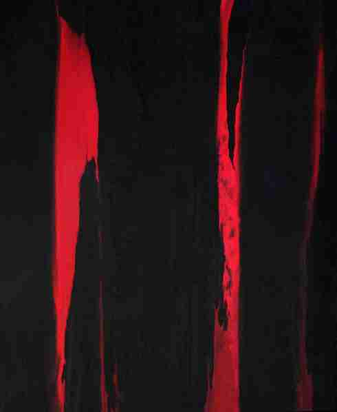 43 - Scratches Rosso - 2011 - Olio su tela cm. 170 x 155