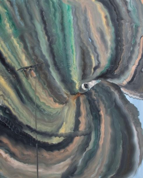 Dio ti guarda dall arcobaleno, Olio su tela, cm 50 x 60, 2011