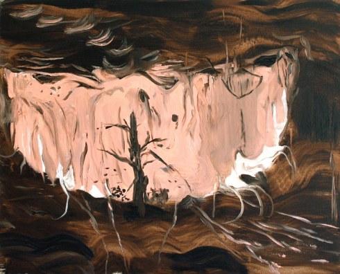 Landscape in a smile, Olio su tela, cm 50 x 40, 2011