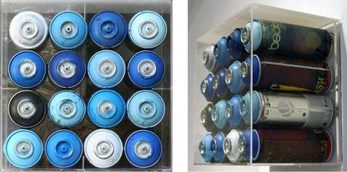Omar Hassan, Rimembranze, contenitori di aria colorata, cm 28,5