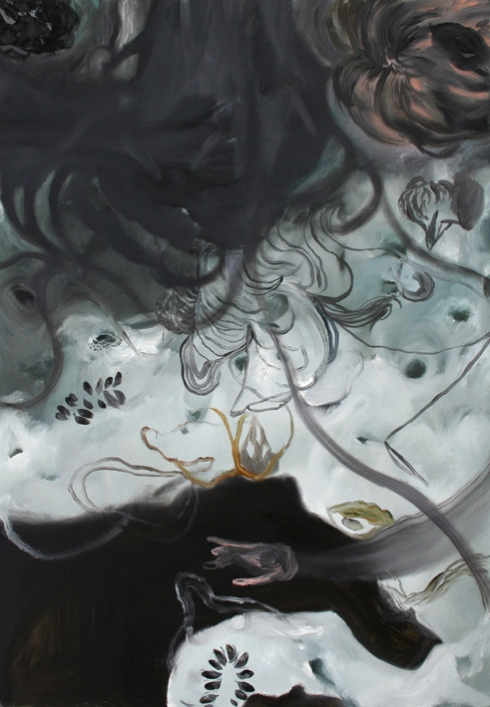 Secret story, Tecnica mista su tela, cm 70x100, 2011