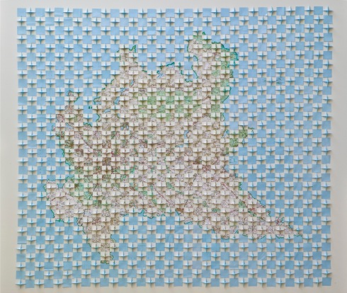 3-Riccardo Gusmaroli, 1141, Lombardia piegata, 148x156 cm., 2010