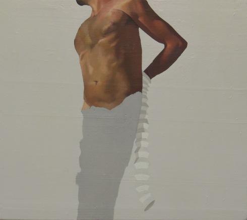 passa e non tocca, 30x27 cm, olio su tavola, 2008