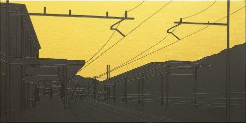Massimo-Dalla-Pola,-04.08.1974-(Italicus),-2013,-acrilico-su-tela,-40x80cm