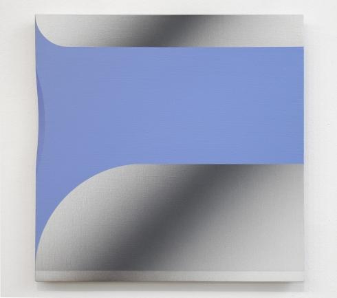 Giuliano Barbanti, SS:azzurro-2gc, 50x50 cm., 1982.