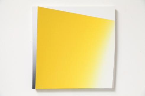Giuliano Barbanti,SS giallo:gc, acrilico su tela, 50x50 cm., 1986.
