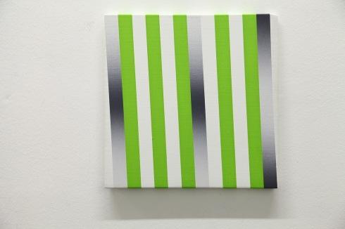 Giuliano Barbanti, Ritmo verdeluce SS:gc, 35x35 cm., 1990.