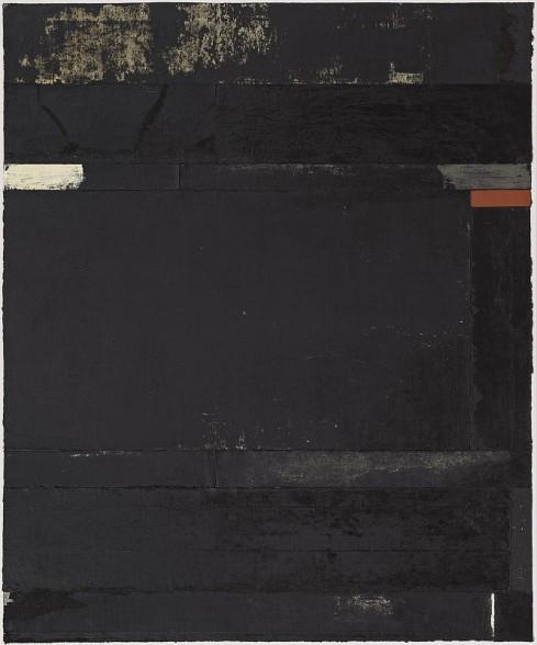 El hombre del saco, 2009  Abdruck von Kautschuk und Acrylgummi auf Leinwand  150 x 125 cm