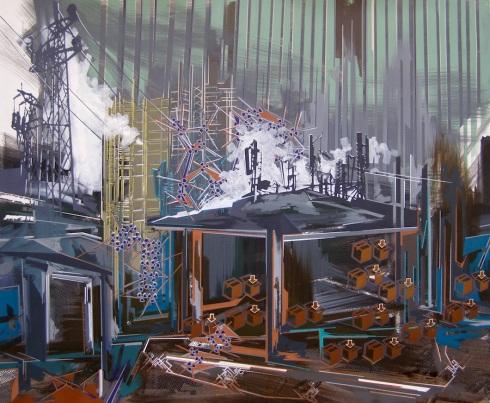 Annalisa Fulvi, Non ci resta altro da fare, acrilico su tela, 120x145 cm., 2014